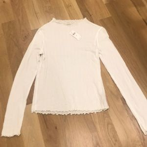 Anthropologie pure and Good ivory long sleeve  xs